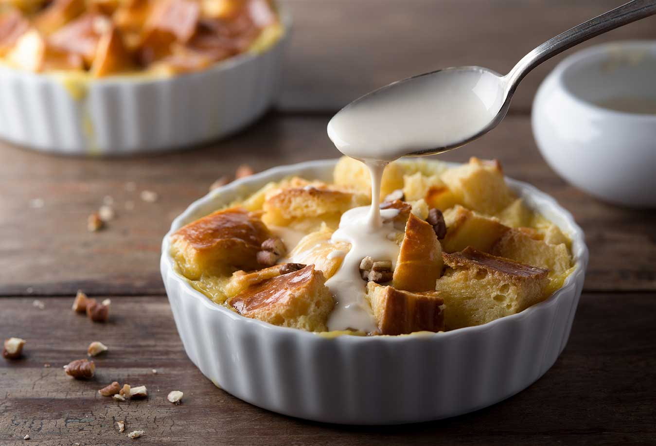 New Orleans Bread Pudding With Bourbon Caramel Sauce